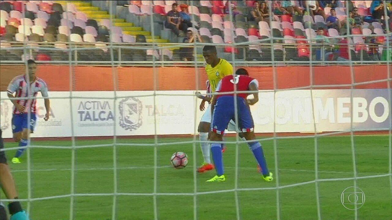 Com golaço de Vinícius Júnior, Brasil empata com Paraguai e avança no Sul-Americano sub-17