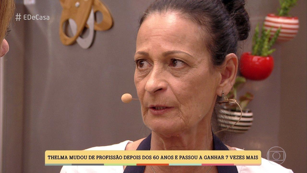 Thelma Soldani largou emprego para virar cozinheira a domicílio
