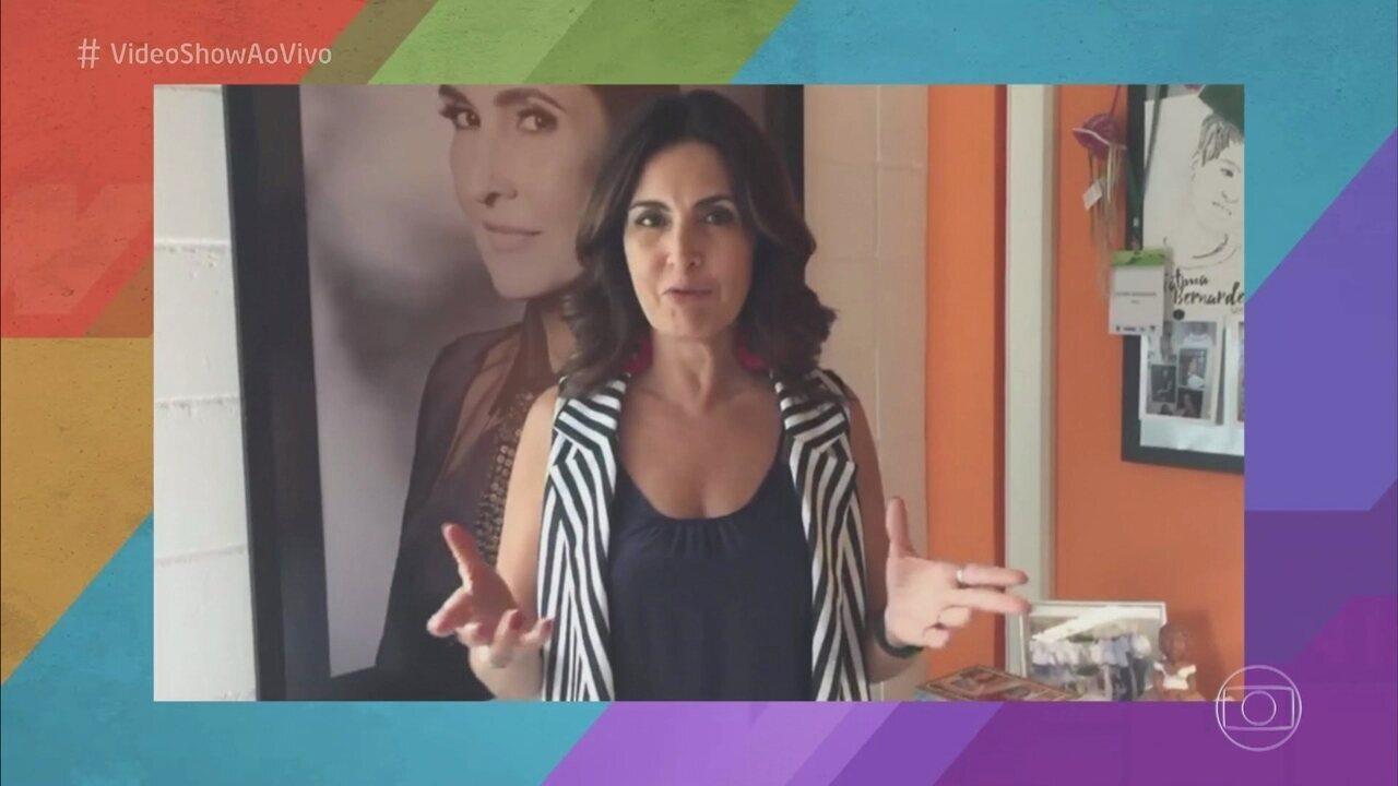 Fátima Bernardes manda recado para os apresentadores do 'Vídeo Show'