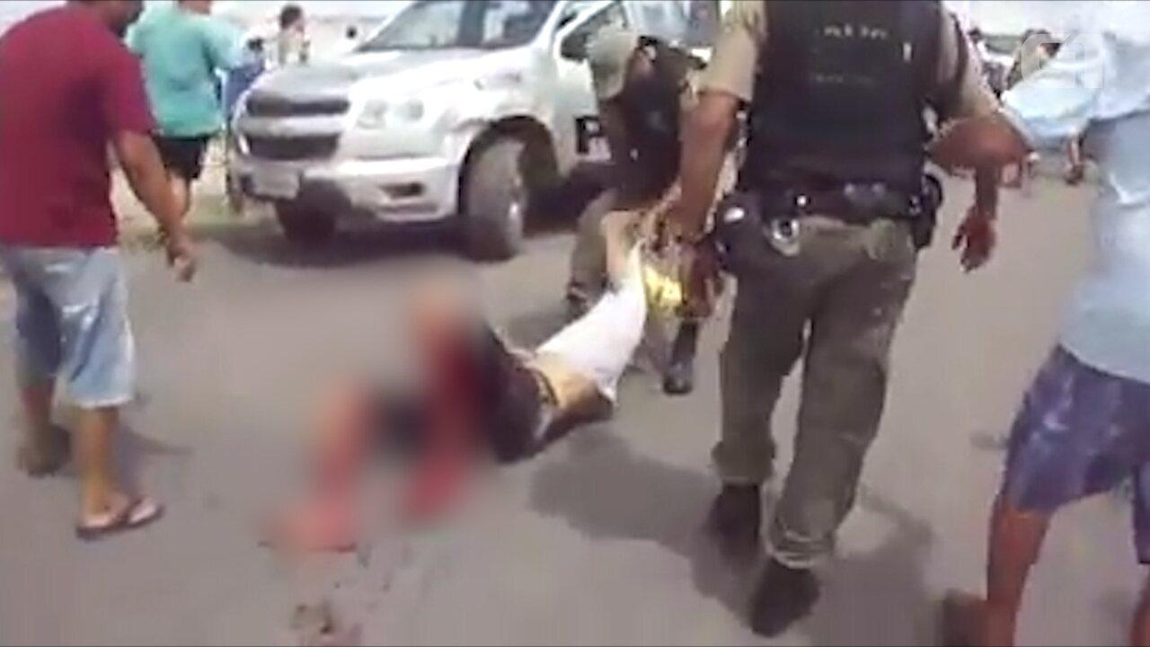 PM atira em manifestante durante protesto em Itambé, na Zona da Mata Norte de Pernambuco