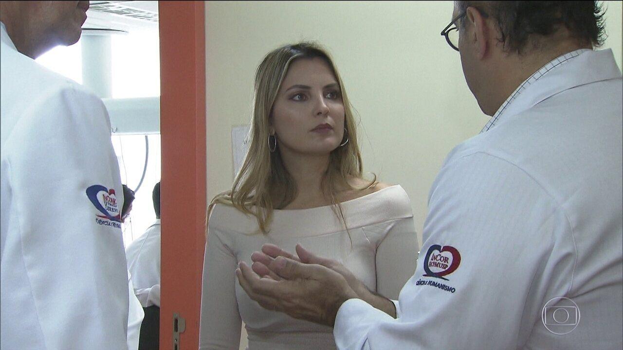 Marcela Temer visita o Incor