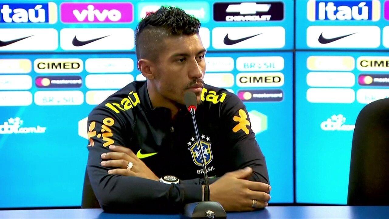 Paulinho diz que momento da seleção brasileira é de muita confiança