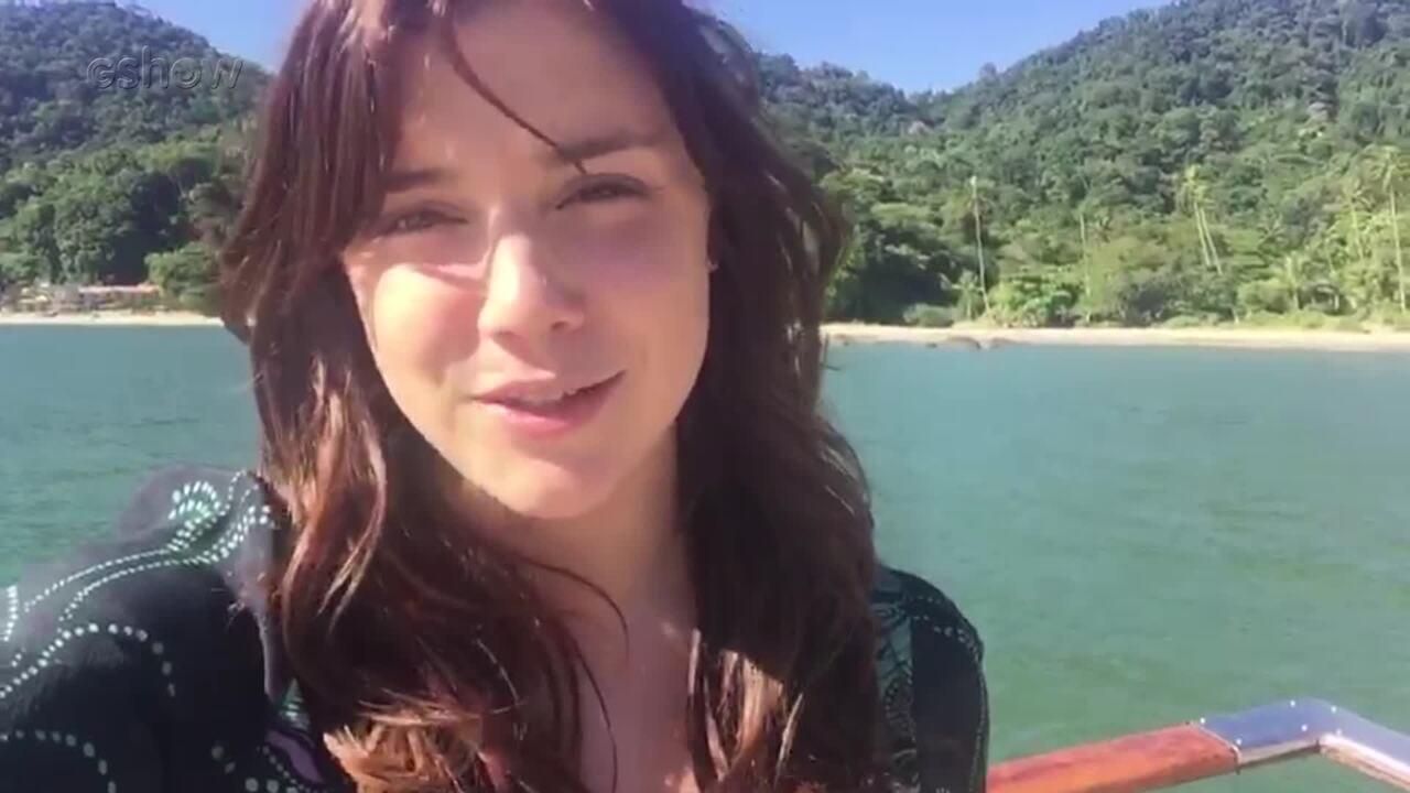 Alice Wegmann mostra bastidores das últimas cenas de Marina