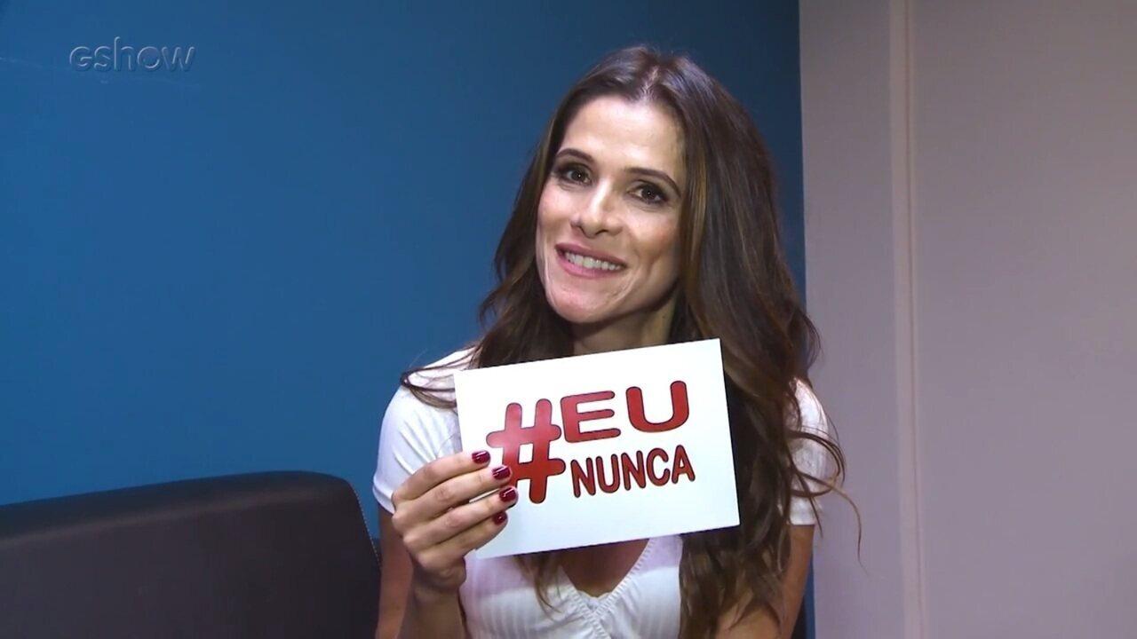 Ingrid Guimarães participa da brincadeira EU JÁ X EU NUNCA