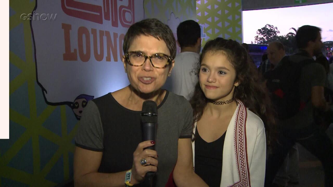 Sandra Annenberg diz o que é deselegante em um festival de música