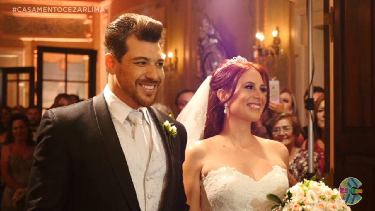 Veja como foi o casamento luxuoso do ex-BBB Cézar Lima