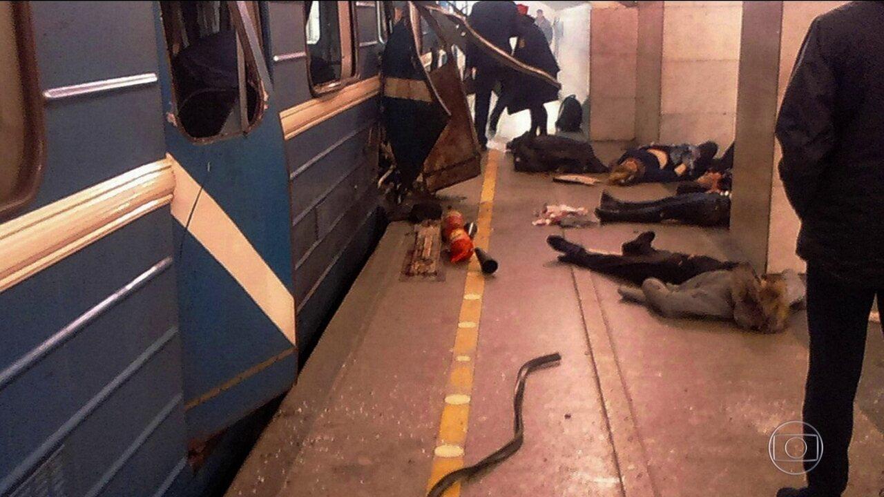 Explosão de bomba em trem mata 11 em São Petersburgo, na Rússia