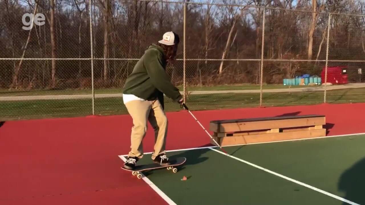 """Cego após doença, americano se reinventa no skate e dá lição de vida: """"Pensam que sou menos capaz"""""""