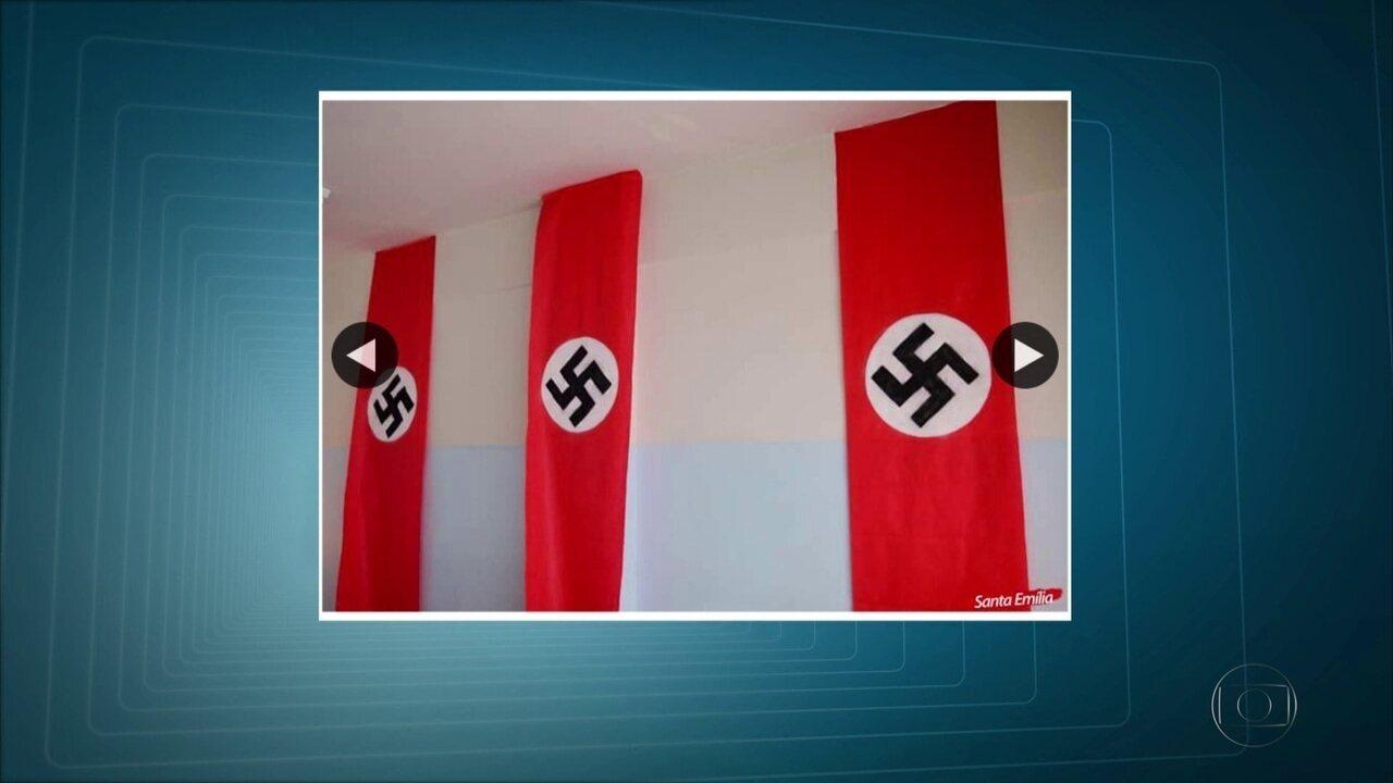 Aula de história com símbolos do nazismo expostos em sala causa polêmica nas redes sociais