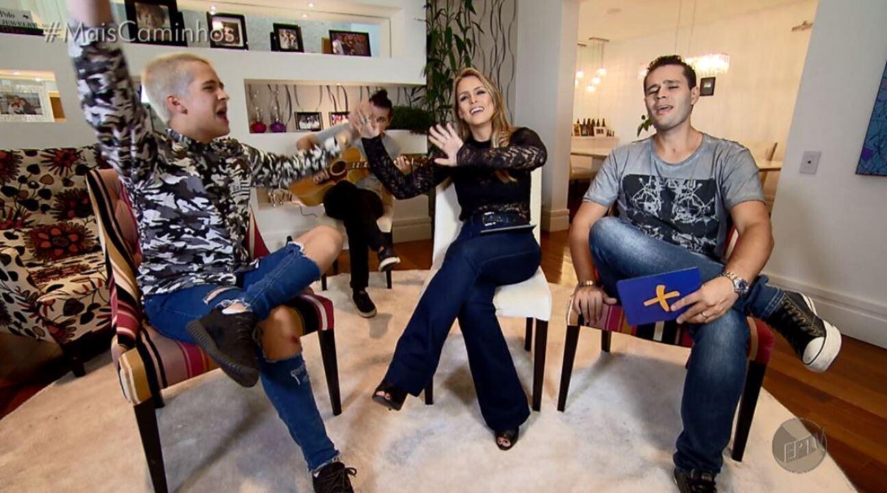 Pedro Leonardo e Aline Lima entrevistam João Guilherme