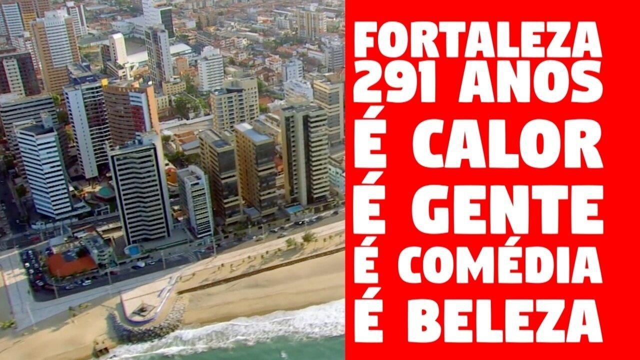 Campanha da TV Verdes Mares em homenagem ao aniversário de 291 anos de Fortaleza