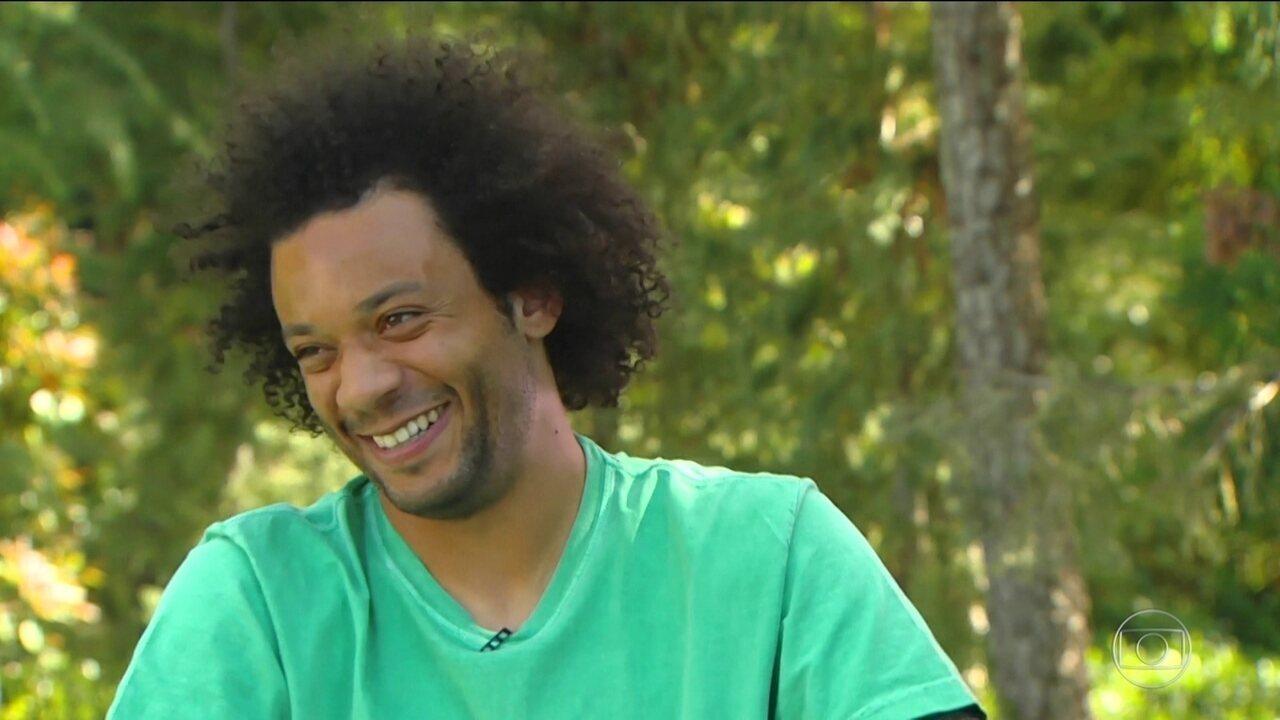Depois de onze temporadas no Real, Marcelo diz que ainda sofre com tensão pré-jogo