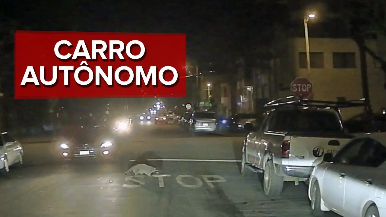 Carro sem motorista da Chevrolet circula pela noite de São Francisco