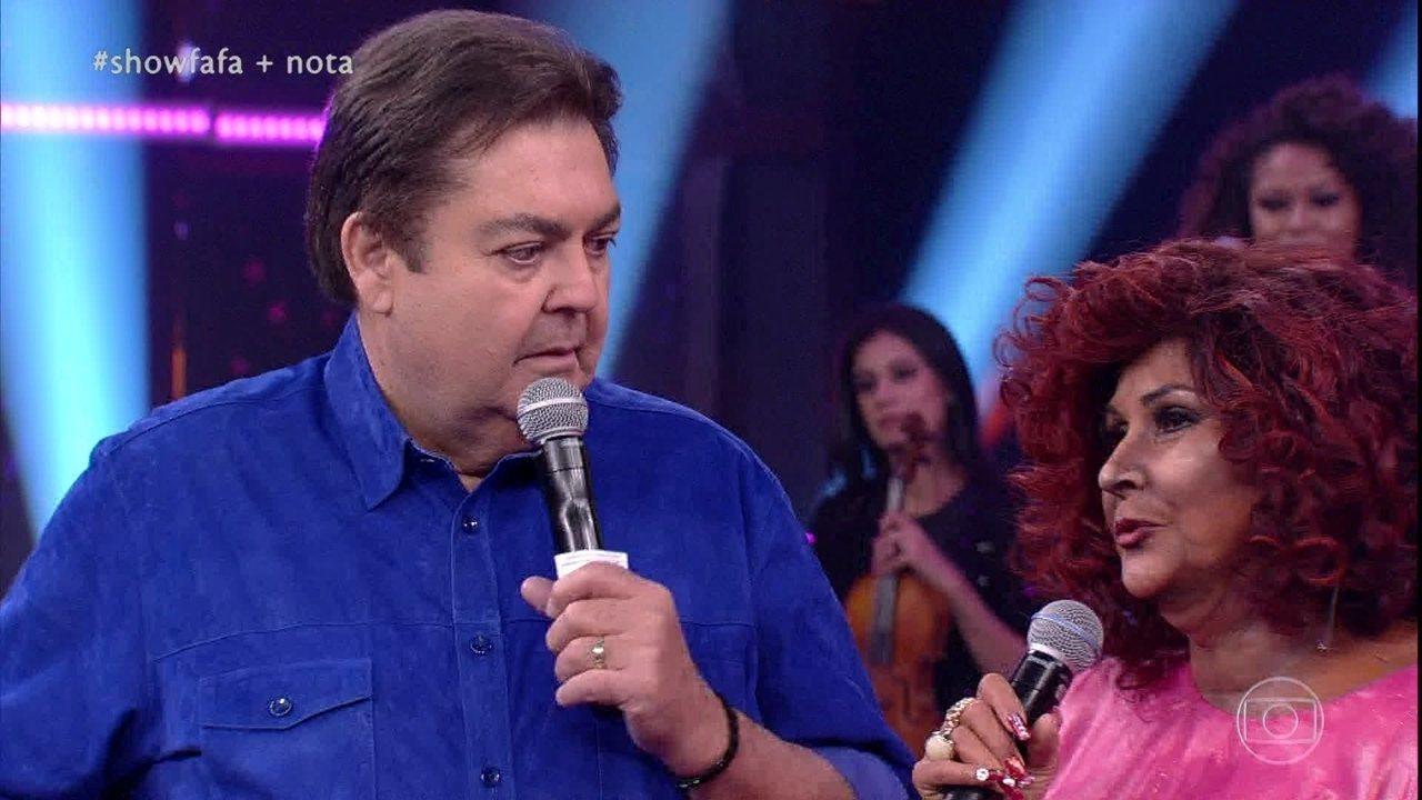 Fafá de Belém conta como foi se transformar em Alcione no palco do Domingão