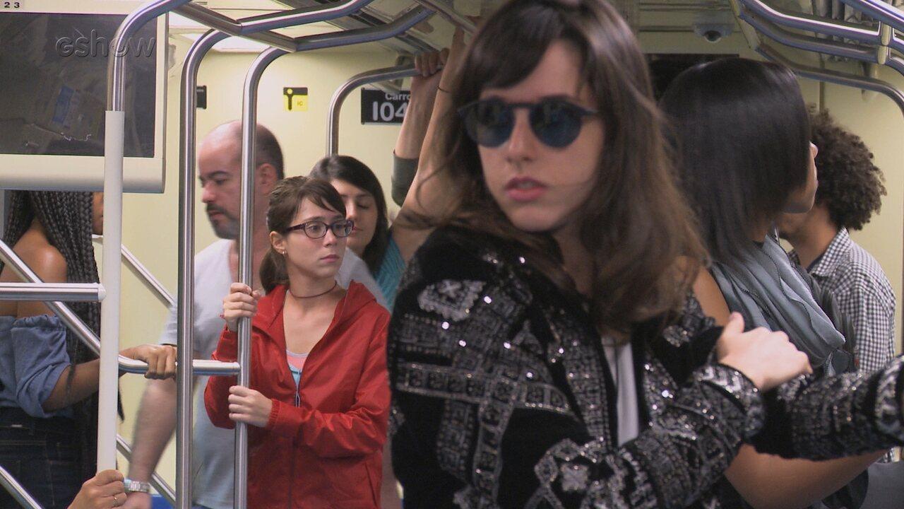 'Viva a Diferença': veja os bastidores da cena do metrô