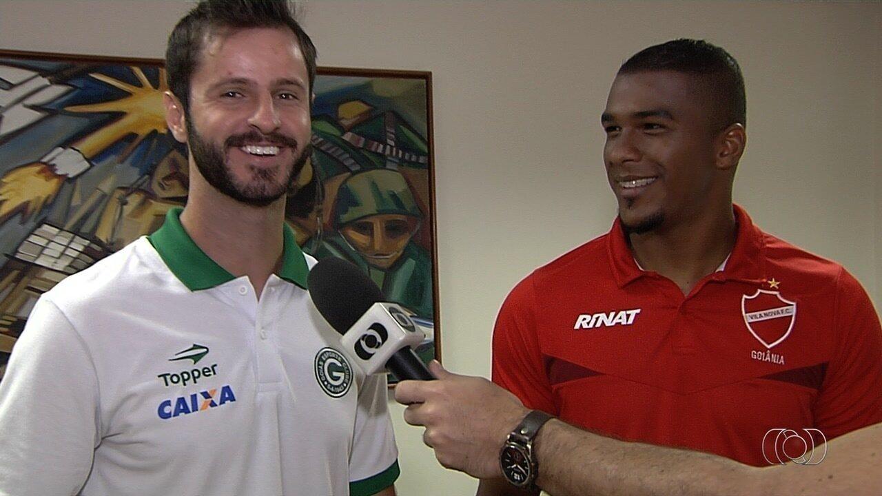 Marcelo Rangel e Elisson participam do Globo Esporte e falam da decisão do Goianão