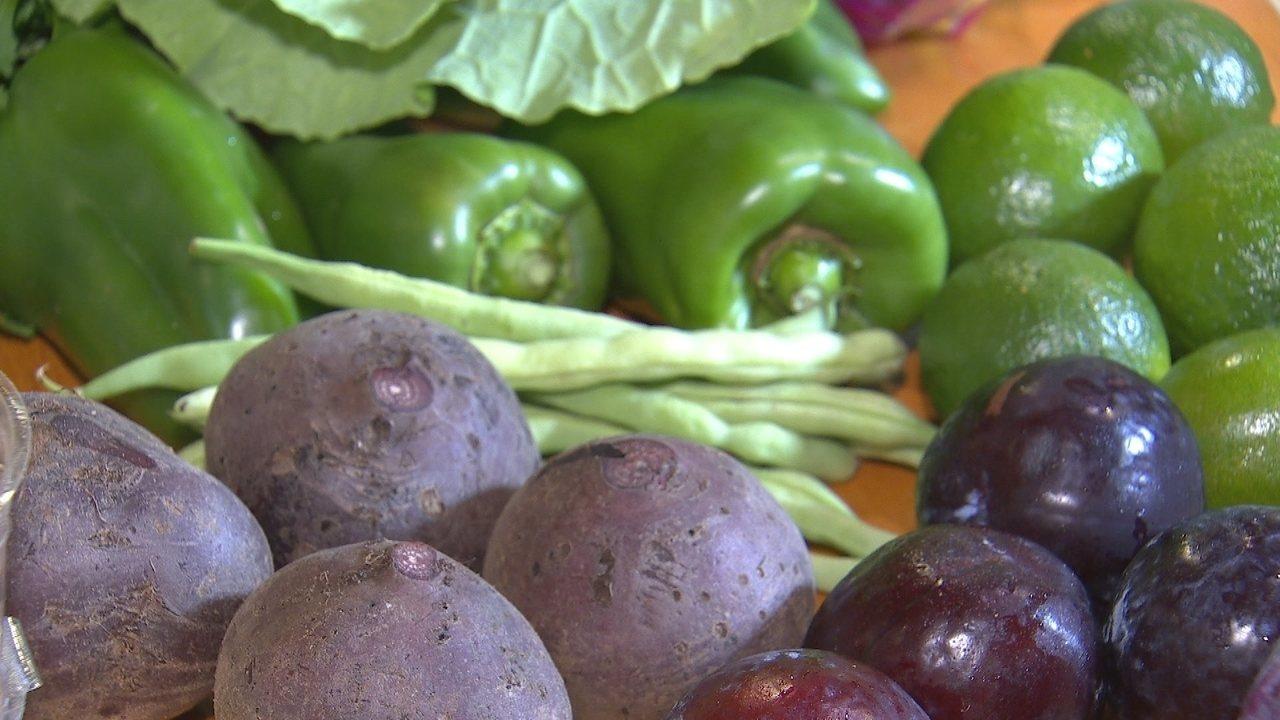 As cores e a importância dos alimentos