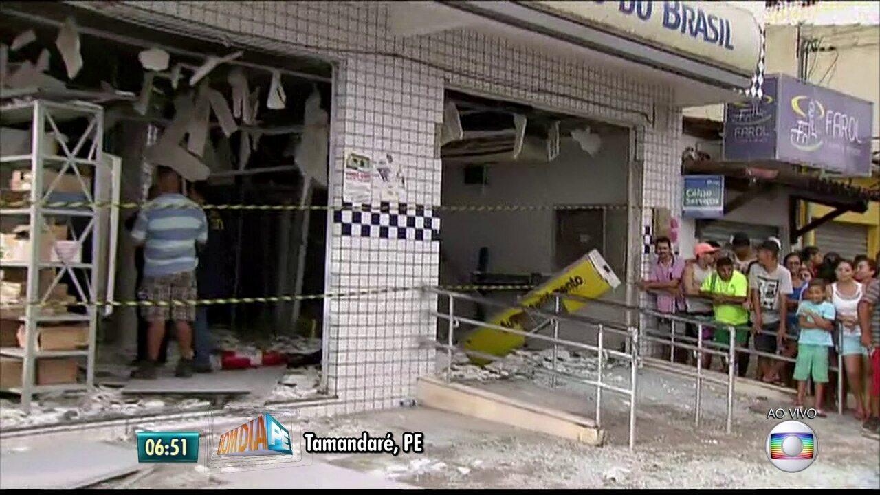 Grupo explode agências bancárias no Litoral Sul de Pernambuco