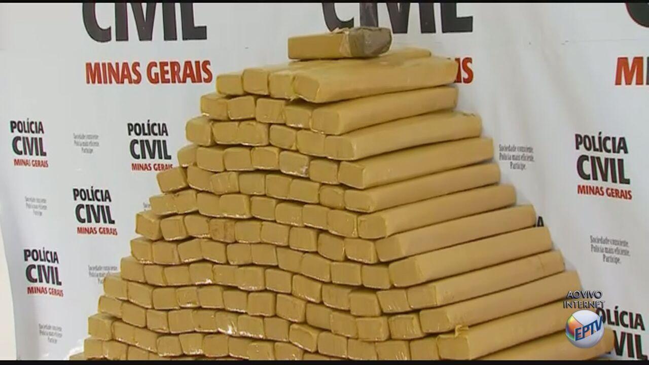 Mais de meia tonelada de maconha é encontrada em porão de sítio em Alfenas (MG)