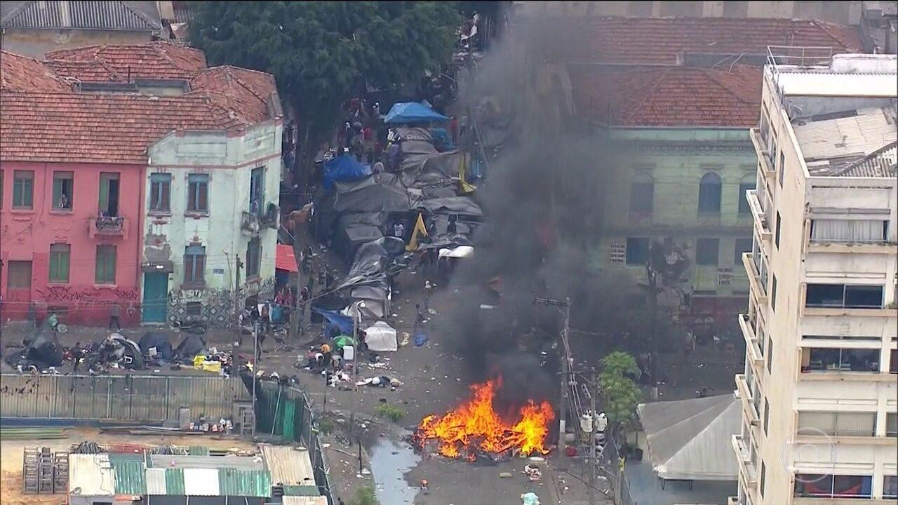 Polícia contém tumulto na área da Cracolândia, em São Paulo