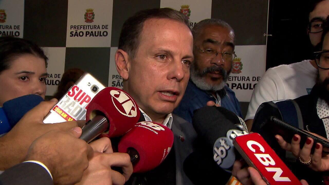 O prefeito João Doria diz que problema na Cracolândia tem prazo para acabar
