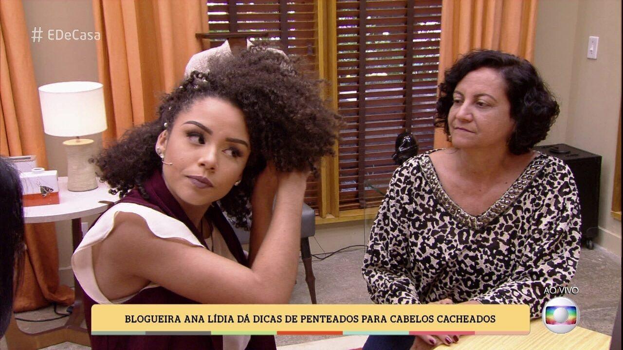 Ana Lídia dá dicas de penteados para cabelos cacheados