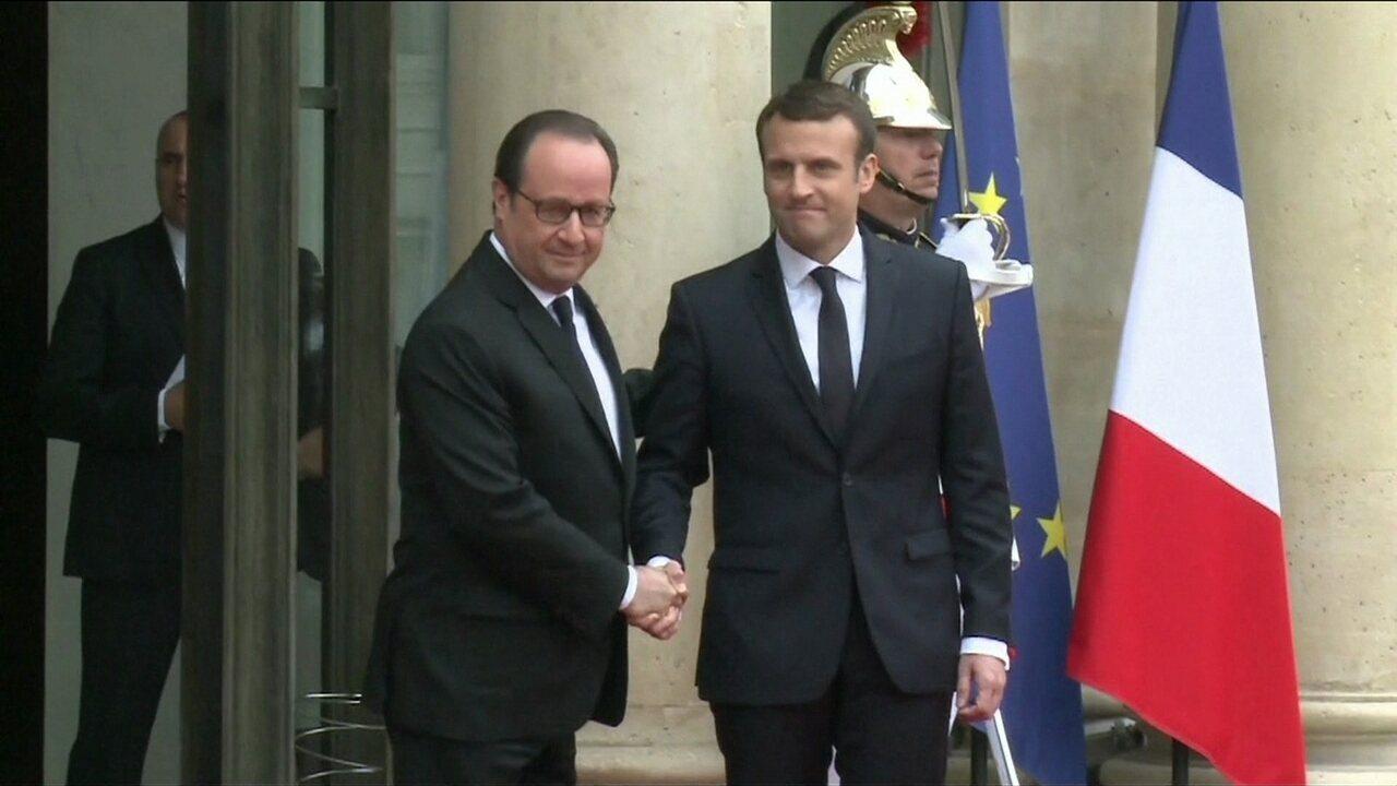 Cerimônia de posse do novo presidente da França acontece neste domingo (14)