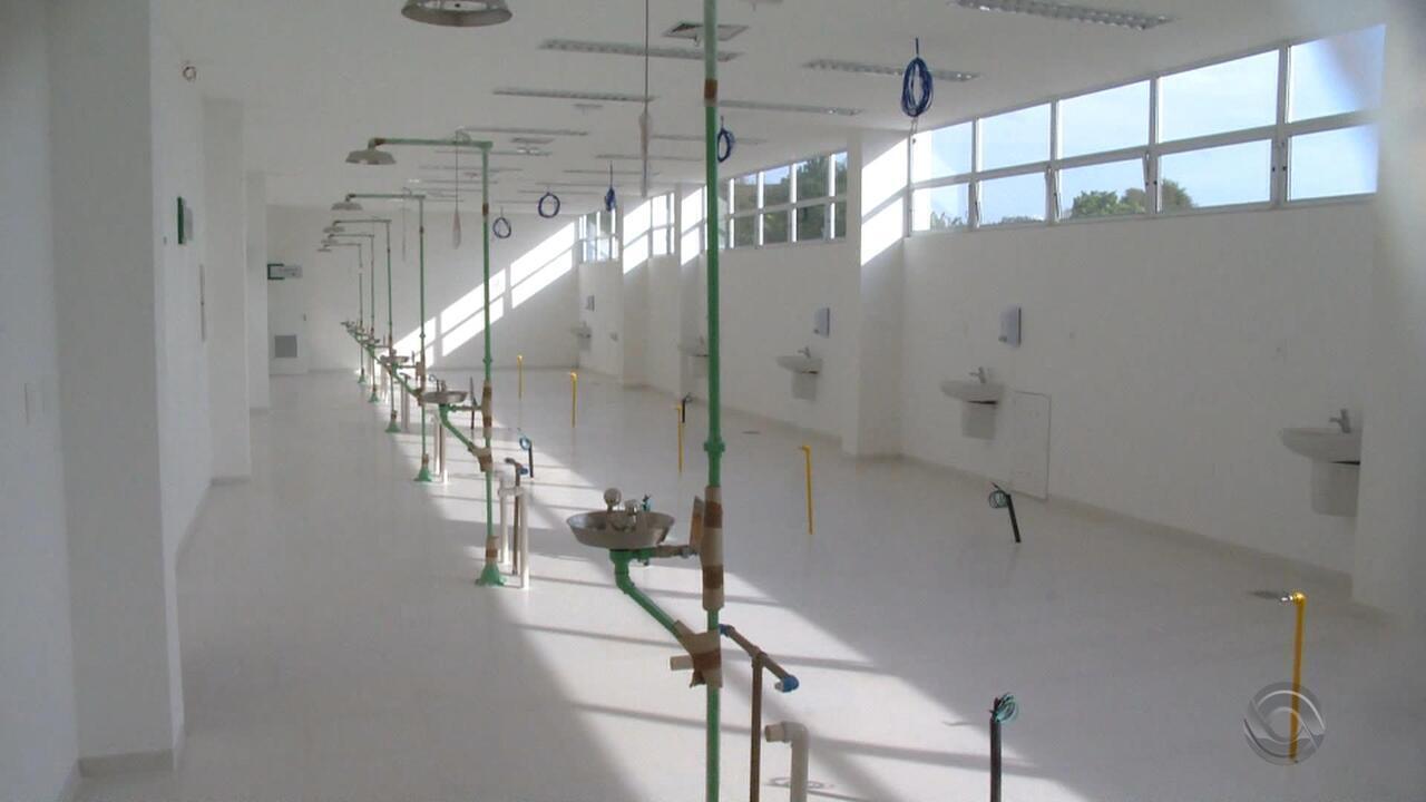 Hospital pronto e nunca usado deve passar por reparos antes de inaugurar em Santa Maria