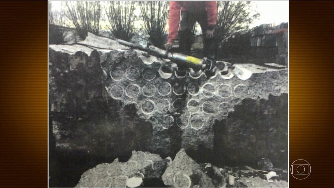PF descobre quadrilha que mandava cocaína escondida em blocos de granito para Europa