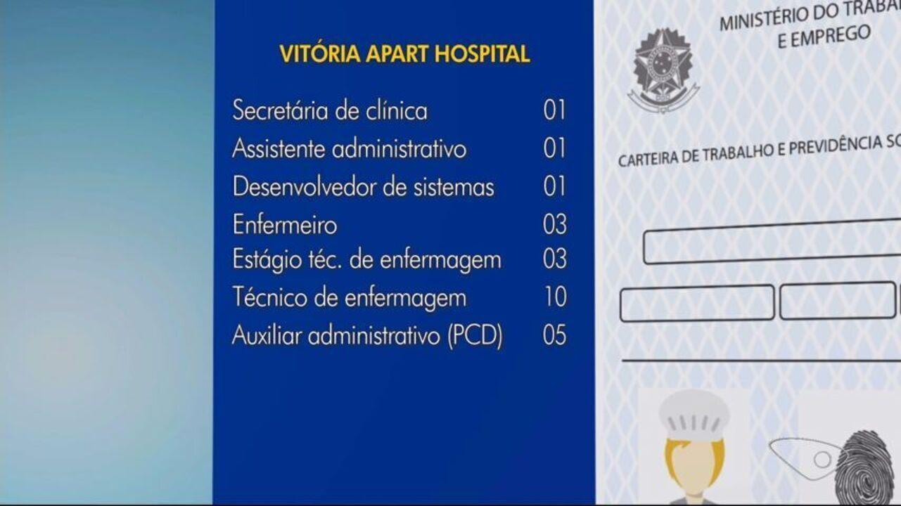 ESTV 1ª Edição | Hospital da Grande Vitória abre vagas de emprego |  Globoplay