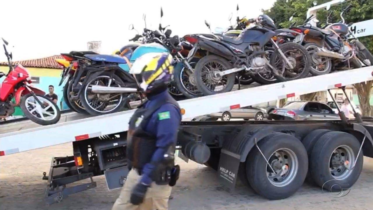 Operação Duas Rodas Alagoas da Polícia Rodoviaria Federal apreende motos em BRs de Alagoas
