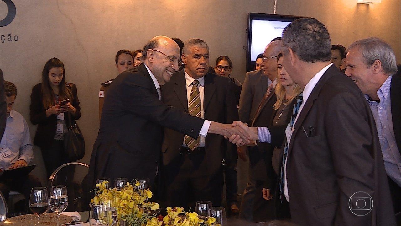 Ministro Henrique Meireles participa de encontro com empresários em Nova Lima