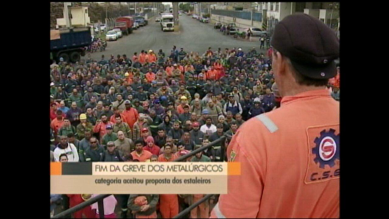 Metalúrgicos encerram greve nos estaleiros em Rio Grande e São José do Norte, RS