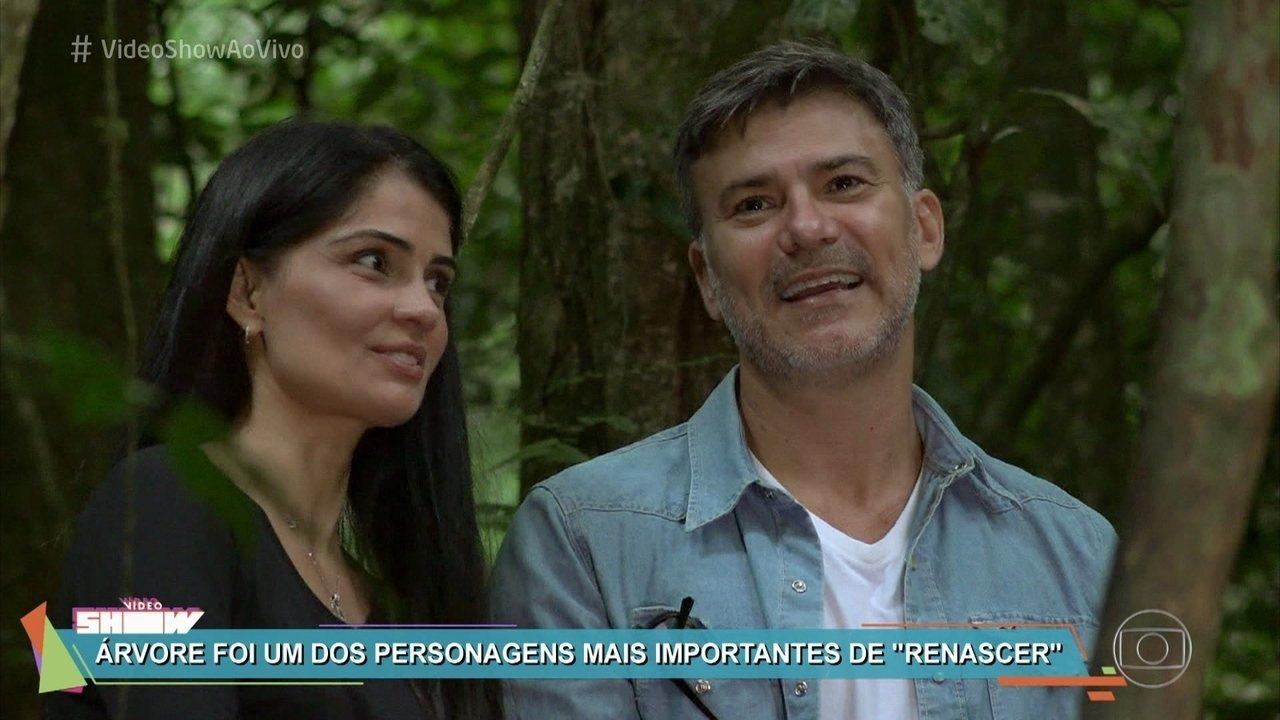 Leonardo Vieira e Patrícia Franca se emocionam em reencontro