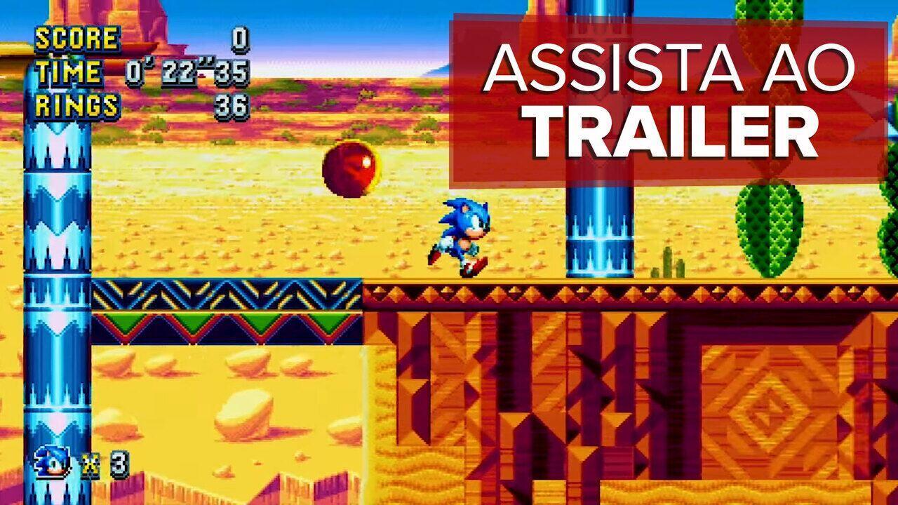 'Sonic Mania' ganha trailer e leva ouriço de volta aos games de plataforma; assista