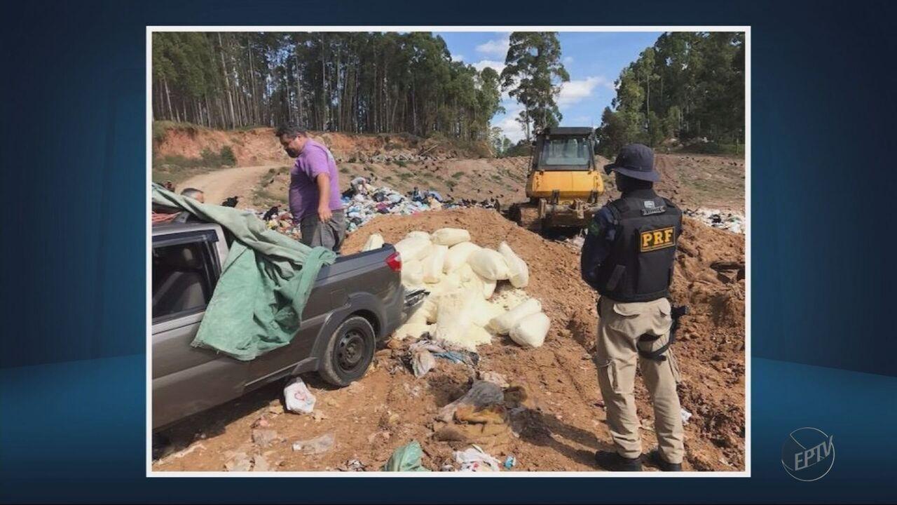Polícia apreende 1 tonelada de queijo em condição irregular em Poços de Caldas (MG)