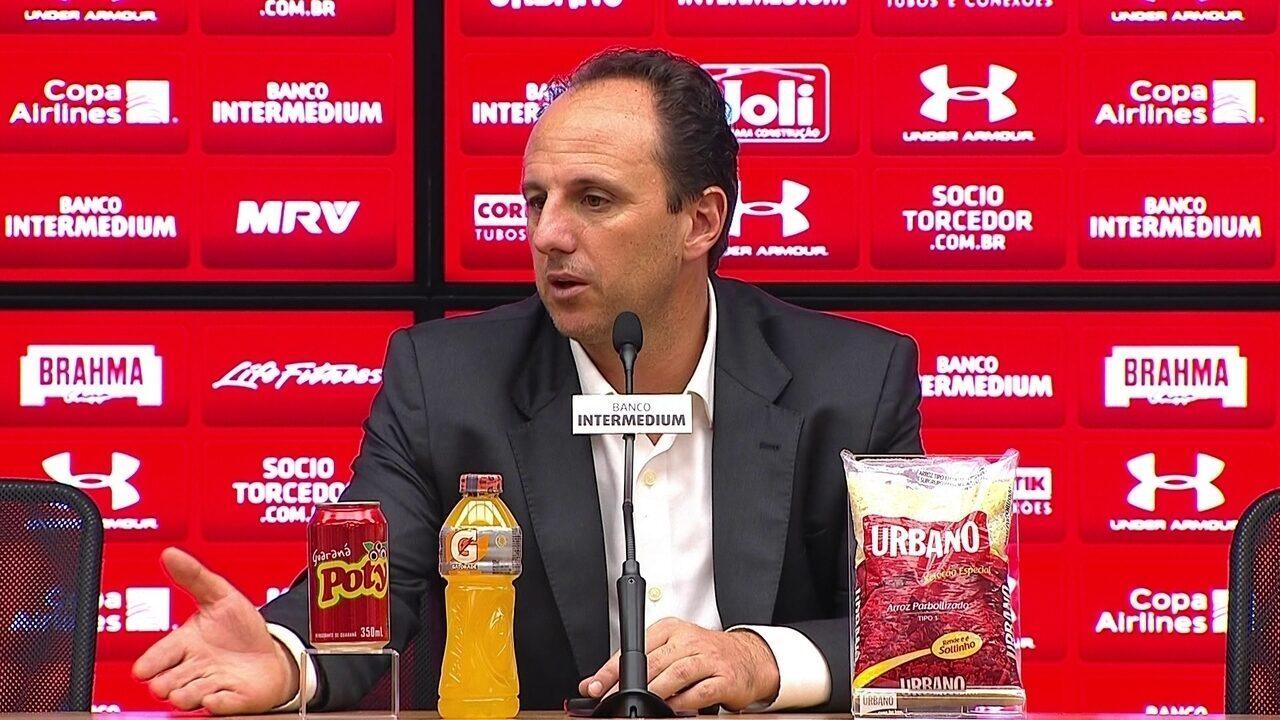 Veja a íntegra da entrevista do técnico Rogério Ceni, do São Paulo, após vencer o Vitória