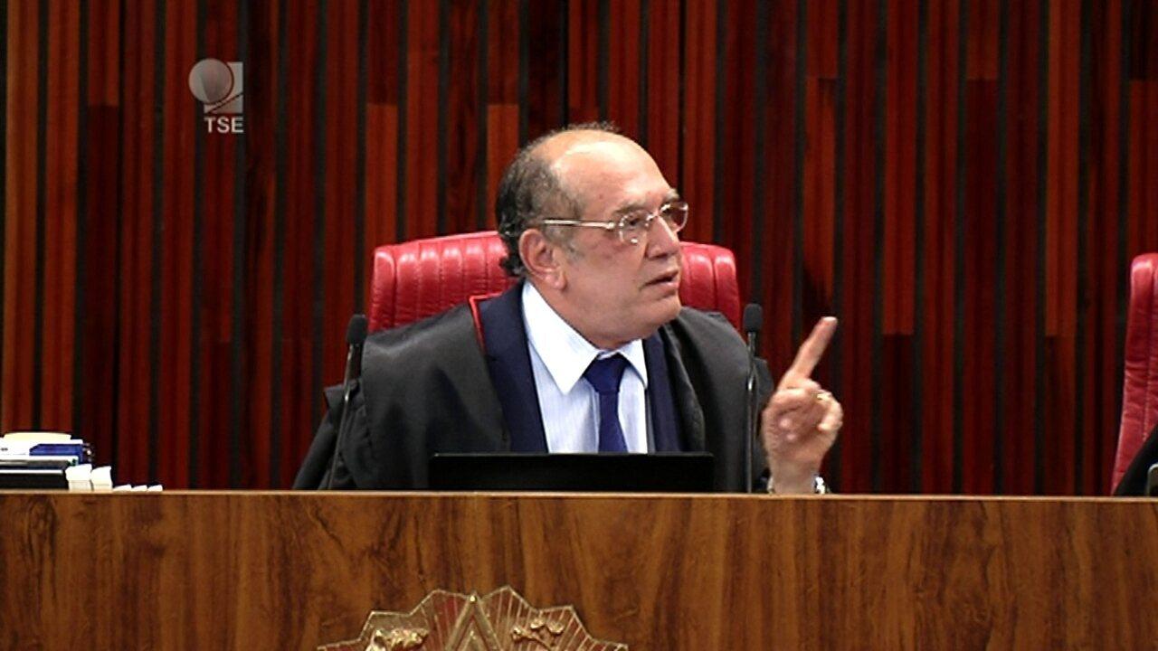 Ministro Gilmar Mendes vota contra a cassação da chapa Dilma-Temer