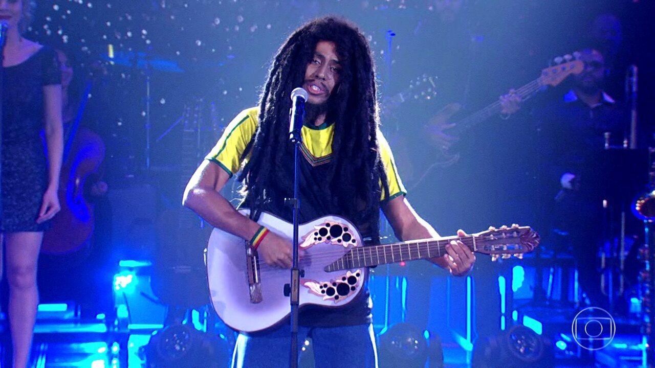 Relembre a homenagem de Ícaro Silva a Bob Marley no 'Show dos Famosos'