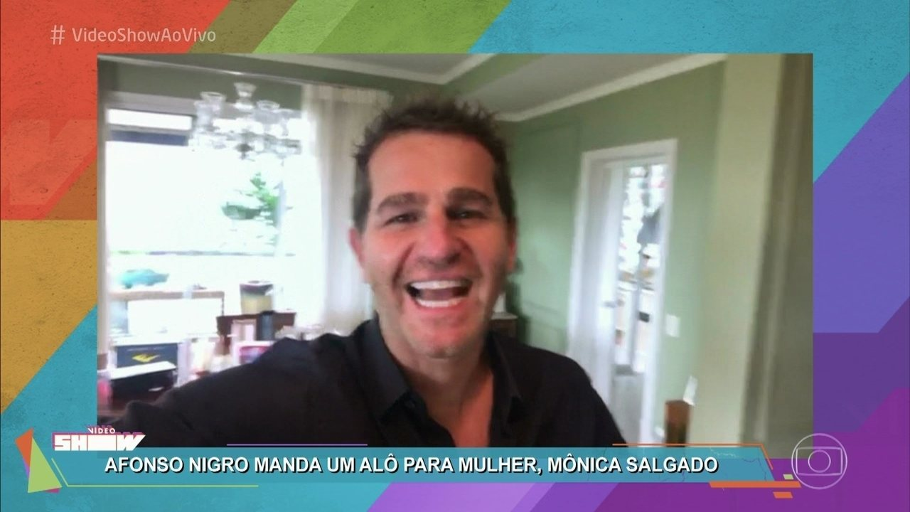 Afonso Nigro manda recado para a esposa, Mônica Salgado