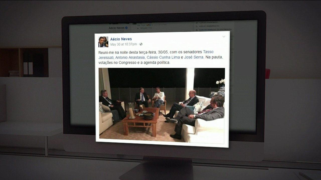 Janot reforça pedido de prisão contra Aécio e anexa foto dele em encontro com políticos