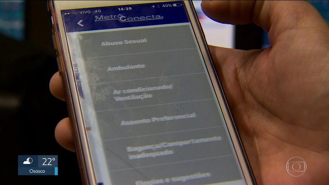 Metrô lança aplicativo para passageiro comunicar problemas de segurança nas viagens
