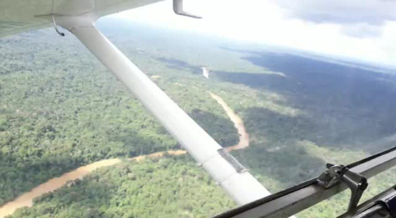 Vídeo mostra momento do pouso forçado de monomotor na selva amazônica, em Roraima