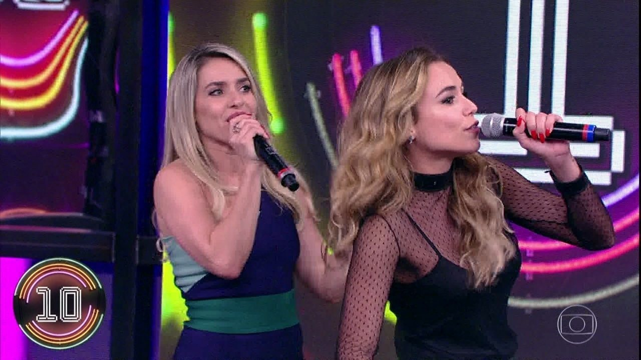 Monique Alfradique e Juliane Araújo acertam a quarta rodada do 'Ding Dong'