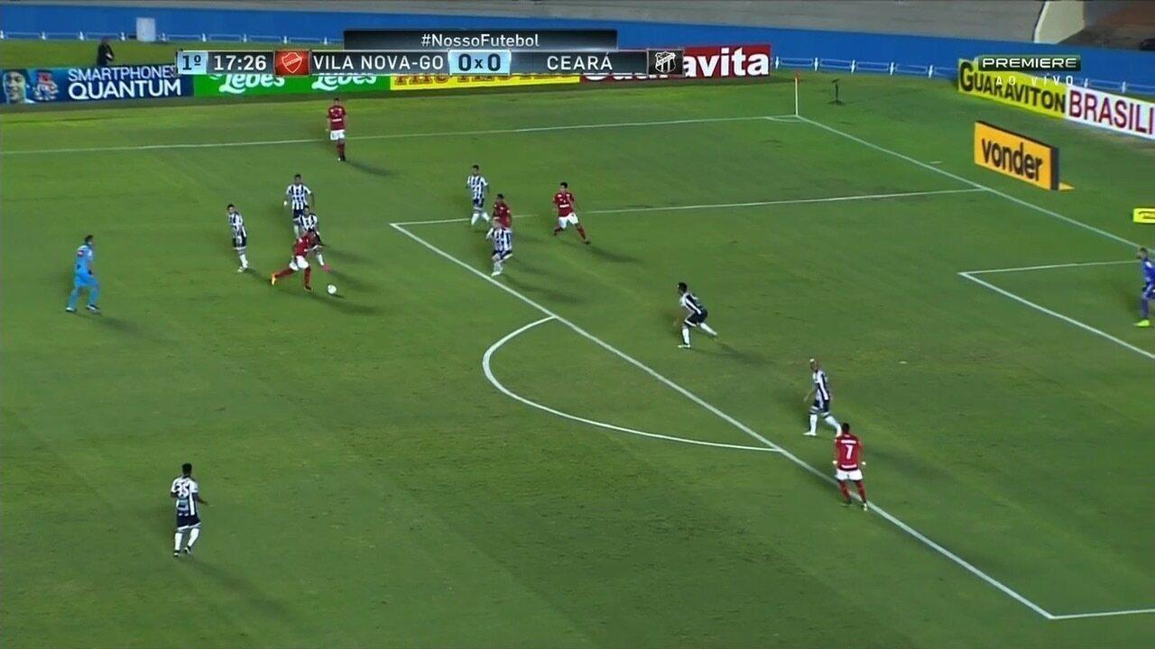 595752bff5 Vila Nova e Ceará empatam por 1 a 1 em jogo fraco tecnicamente no ...