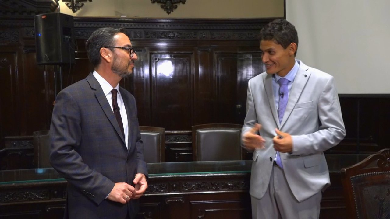 Danilo Silva conhece Juiz Jayme Garcia e assiste à palestra especial de David Portes
