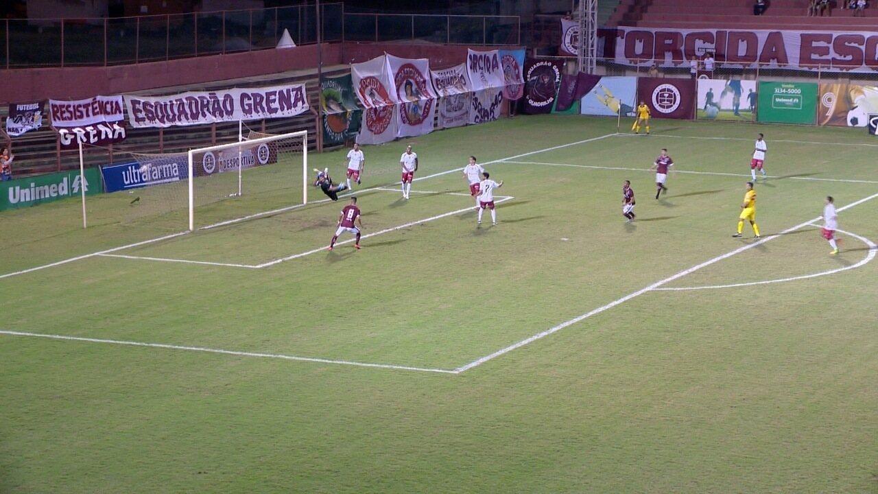 O gol de Desportiva Ferroviária 1 x 0 Portuguesa, pela Série D do Brasileirão 2017
