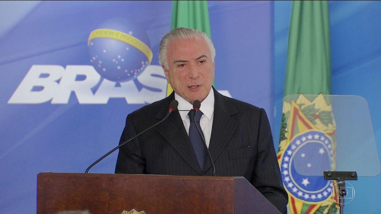 Presidente Temer é denunciado por prática de corrupção