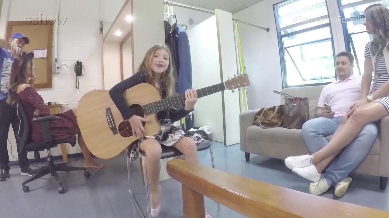 Filha do cantor Daniel mostra os bastidores do 'Tamanho Família'