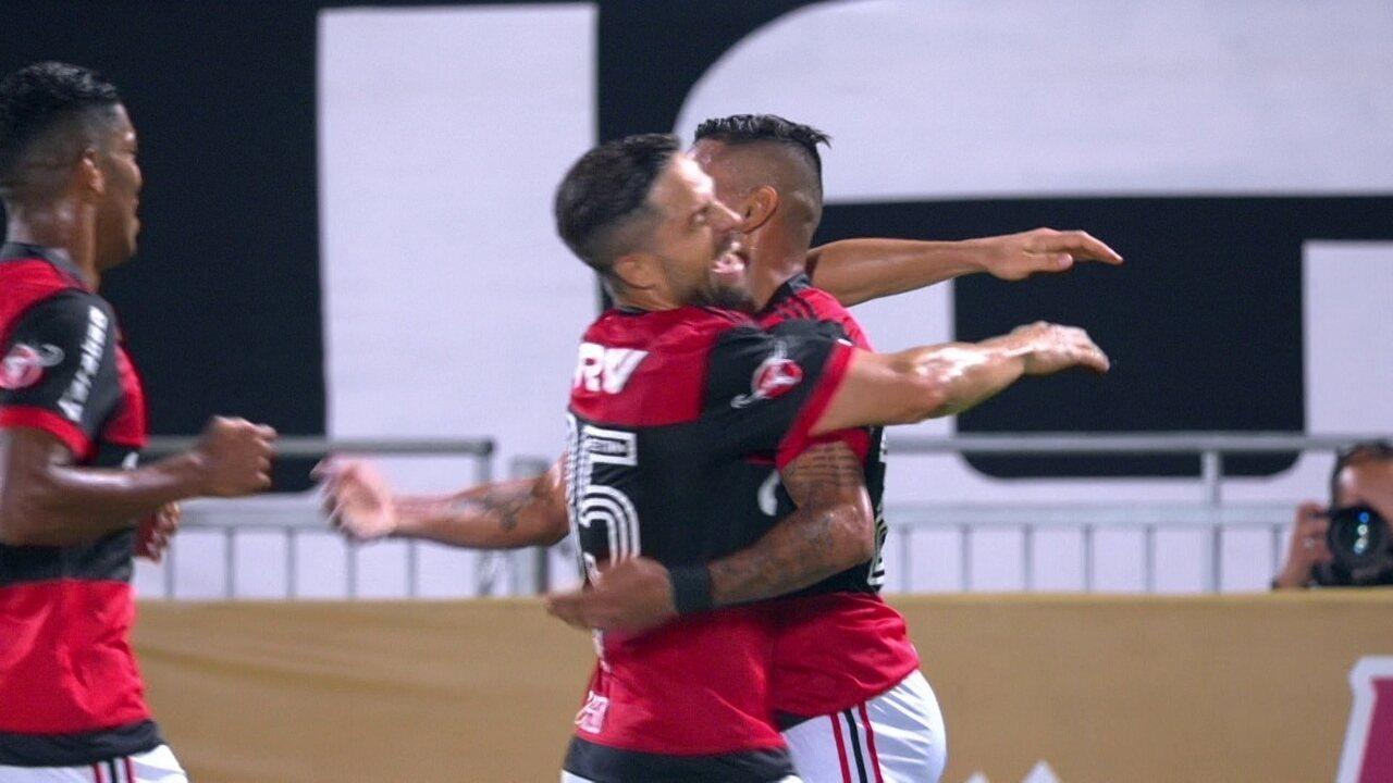 Os gols de Flamengo 2 x 0 Santos pelas quartas de final da Copa do Brasil